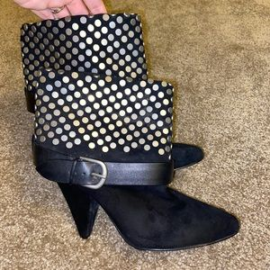 Ankle booties with embellished studs